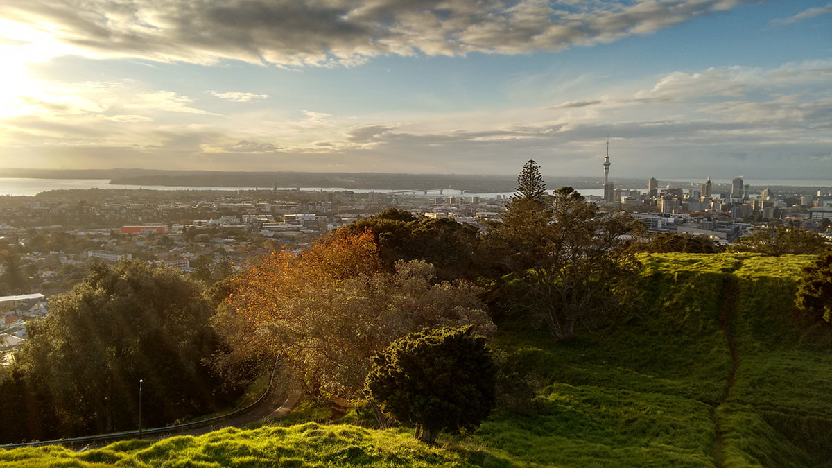 View of Auckland city in New Zealand
