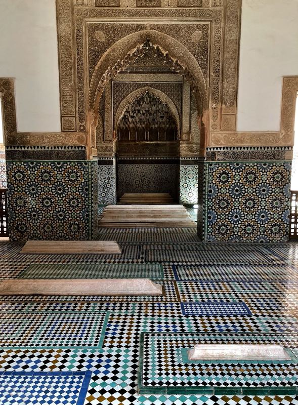 The Saadian Tombs and the mausoleum of Sultan Ahmad al-Mansur in Marrkesh, Morocco