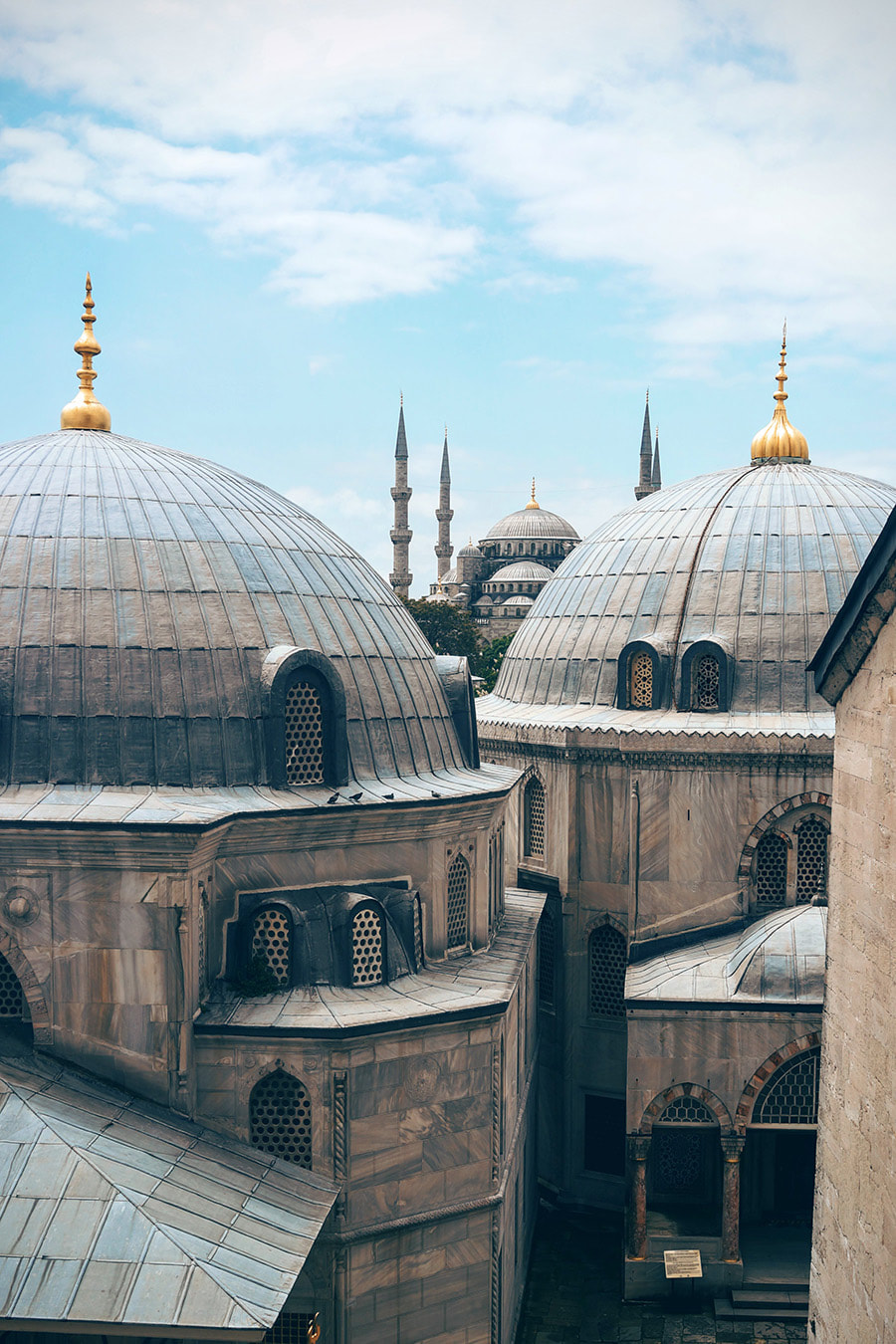 Beautiful Mosques fill the skyline in Istanbul, Turkey