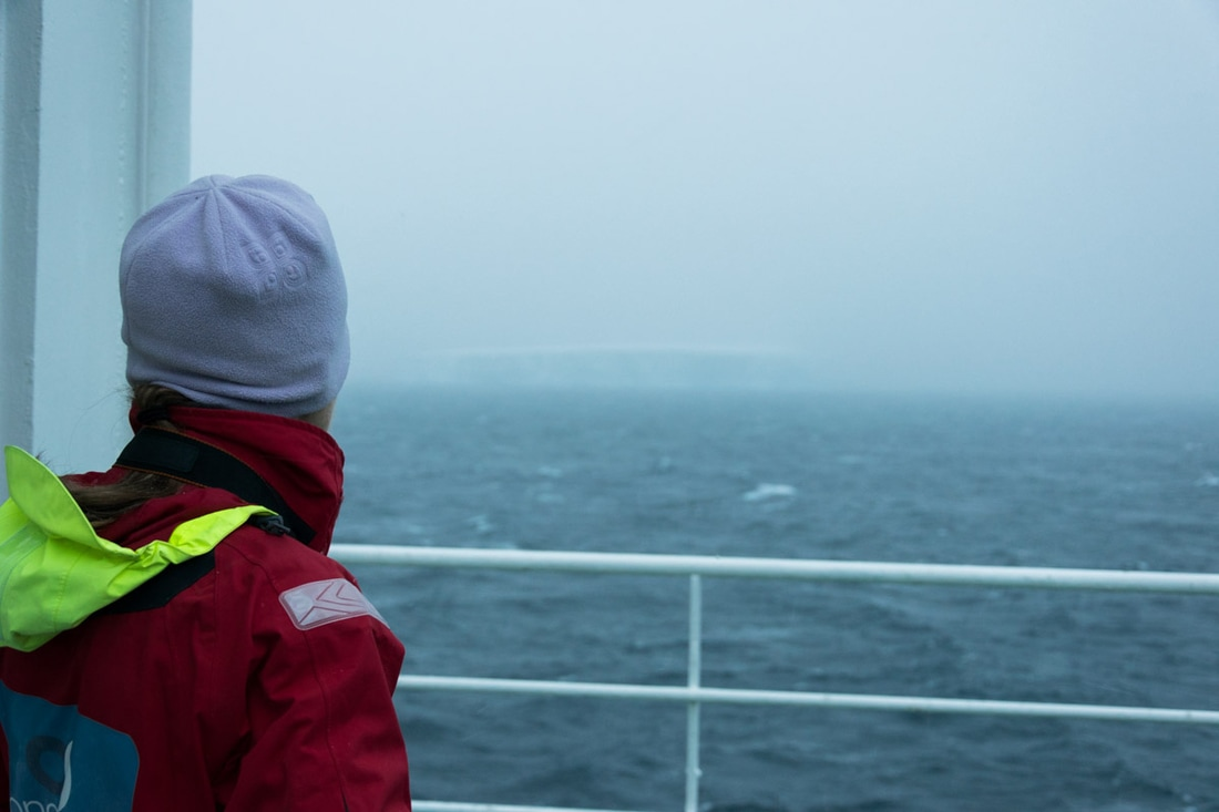 Iceberg lookout on Antarctic waters